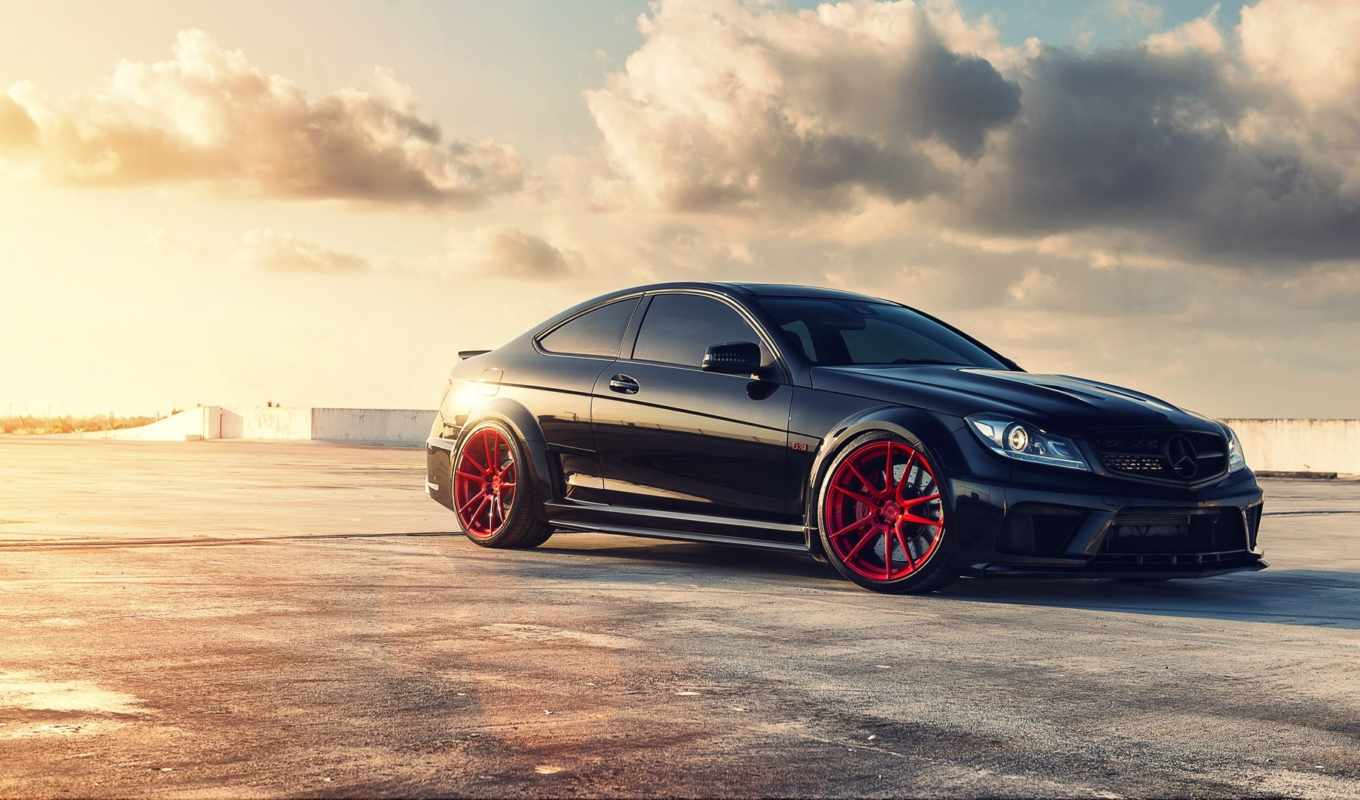mercedes, amg, black, серия, тюнинг, мерседес, coupe,