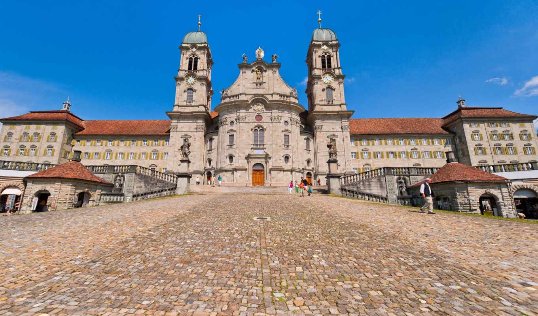 einsiedeln, abbey, швейцария, красивые, обитель, европа,