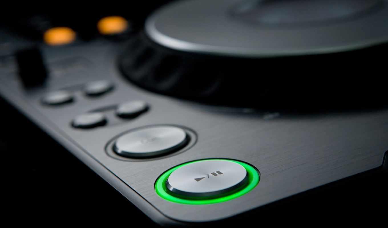 dj, вертушка, кнопка, пауза, макро