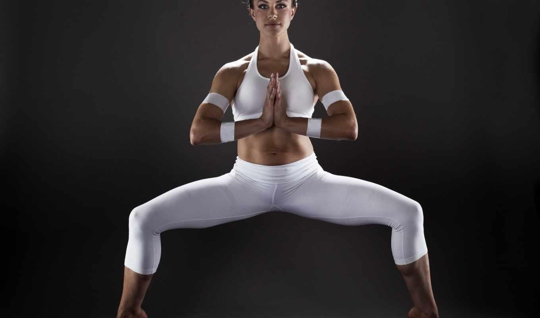 спорт, девушка, йога, поза, картинка,