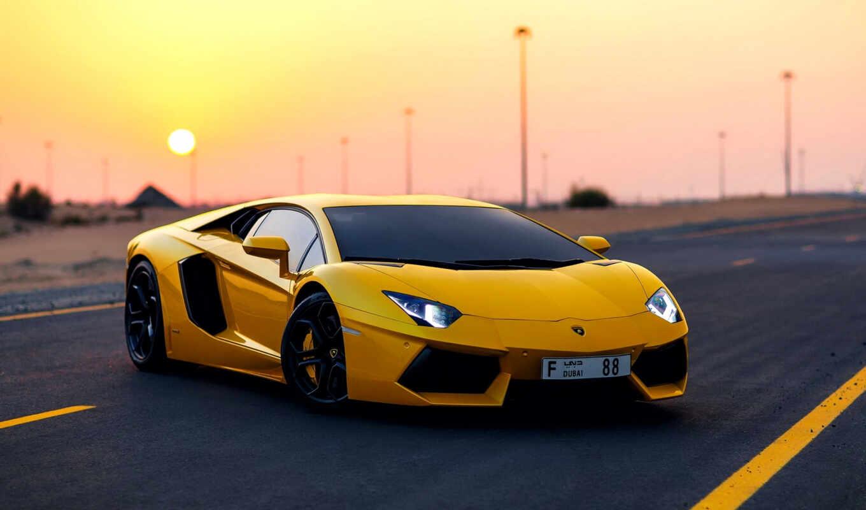 машины, желтый, автомобили, дорогие, lamborghini,