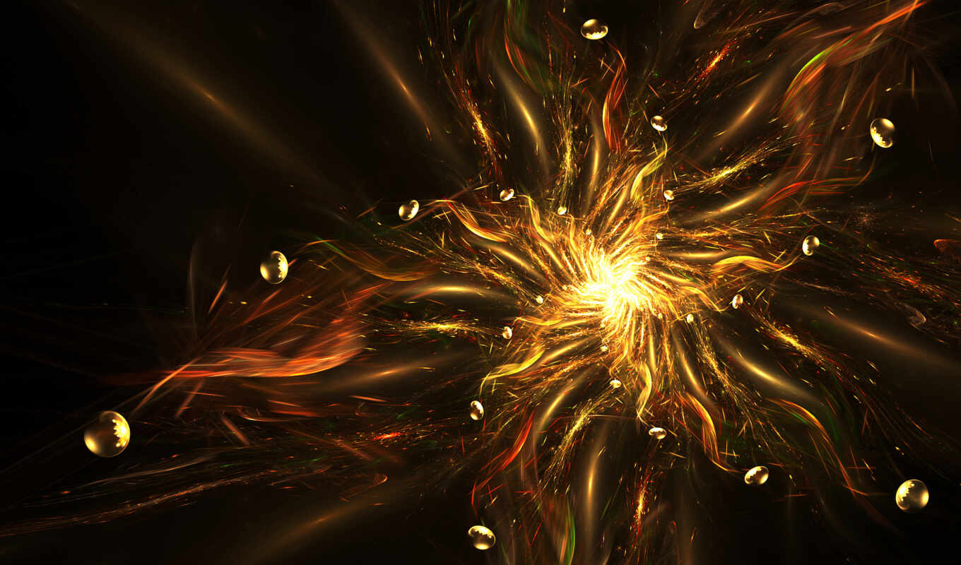 abstract, star, абстракция, art, fractal, cgi, digital, illustration, yellow, огонь