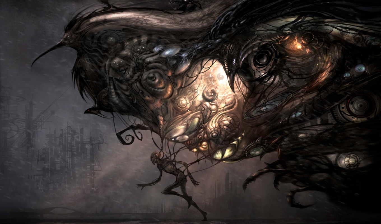 desktop, creepy, creatures,
