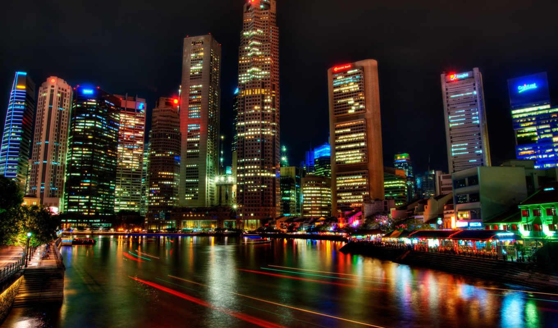 singapore, ночь, река, город, festival,