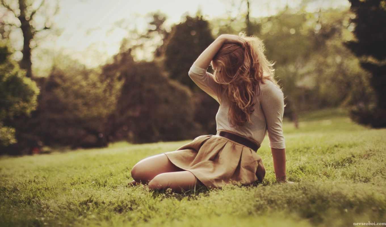 девушка, поле, настроение, красавица, волосы, martha,