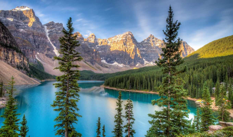 красиво, горы, взгляд, яркий, вектор, ipad, небо, фоны,