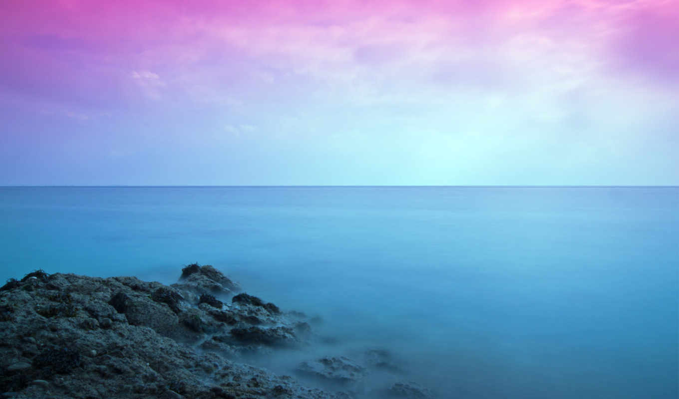 colorful, abstract, seascape,