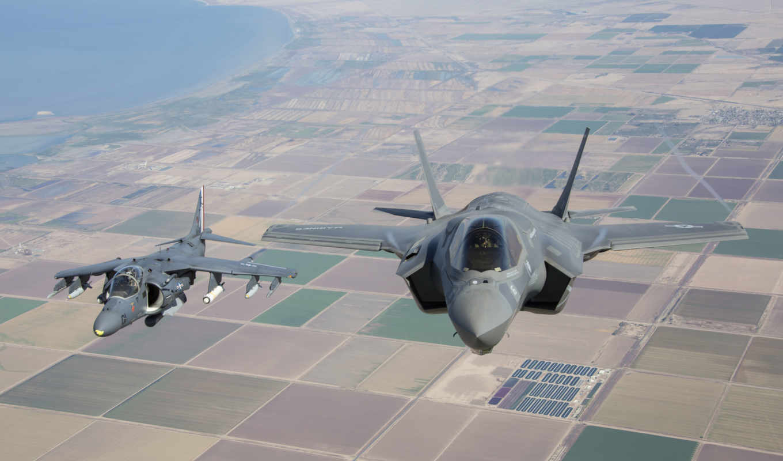 lightning, land, marine, истребитель, полет, squadron, weapons, joint,