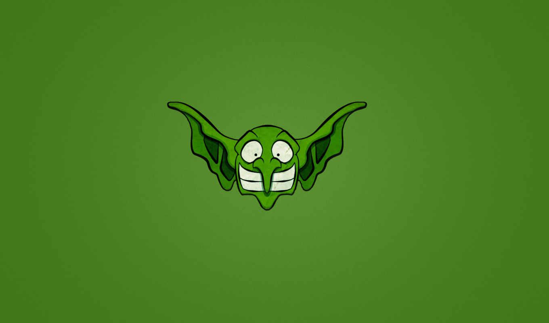 минимализм, носастый, улыбка, гоблин, зелёный, голова, сайта, www, ушастый, изображения,