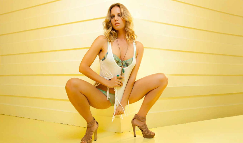 трусы, модель, девушка, blonde, ноги, рубашка, sascha, aleksander, туфли,