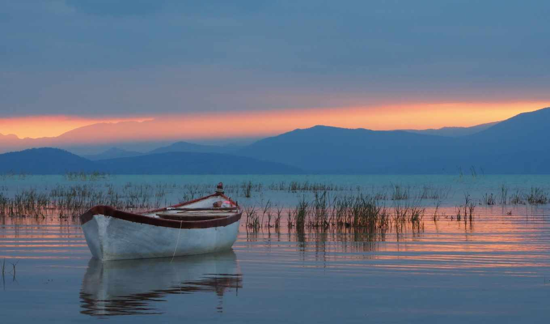 озеро, park, national, гора, beysehir, district, лодка, turkey