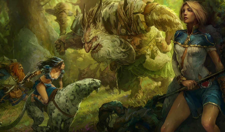 prime, world, девушки, art, rakhmatullin, mikhail, fantasy, лес, монтсры, красивые, silvan,