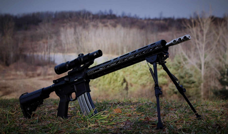 винтовка, снайперская, optics, винтовки, сошка, built, снайпер, option, модификация, трава,