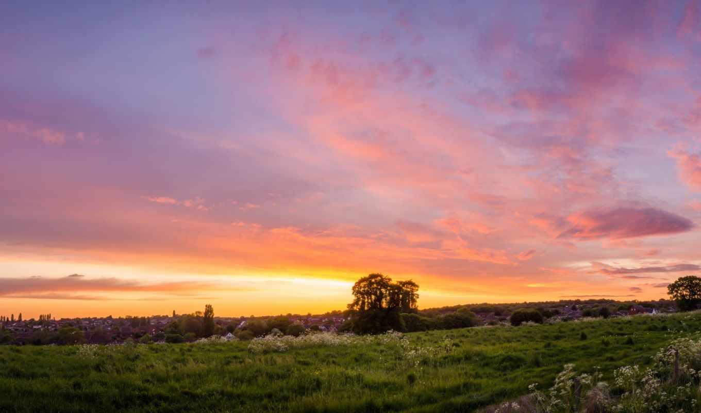 закат поле джипы небо  № 3800580 бесплатно