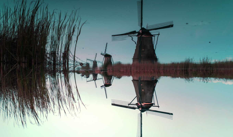 windmills, kinderdijk, water, holland, users, flickr, hive, leica, mind, south, ветряк,