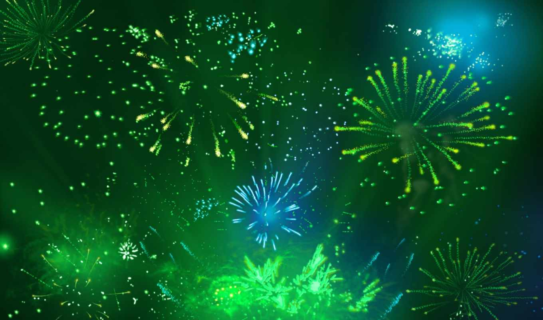 fireworks, фон, зелёный, desktop, free, animated,