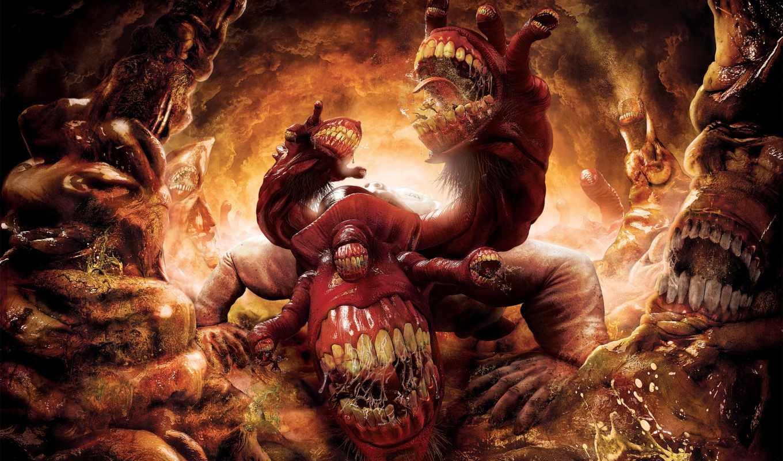 inferno, dante, монстр, games, игры, обжорство, ад, game, смотрите, видео, компьютерные, dantes,