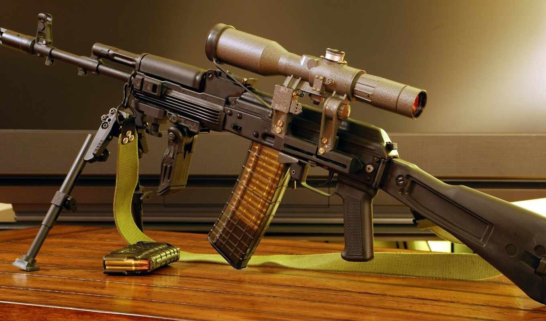 автомат, калашникова, АК74М, сошки, прицел, снайпер