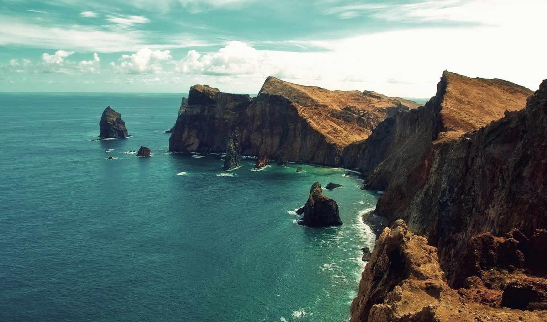 ,море, скалы, landscape, природа, water, берег,