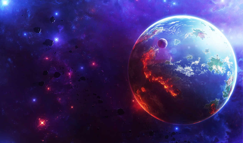 cosmos, planet, звезды,