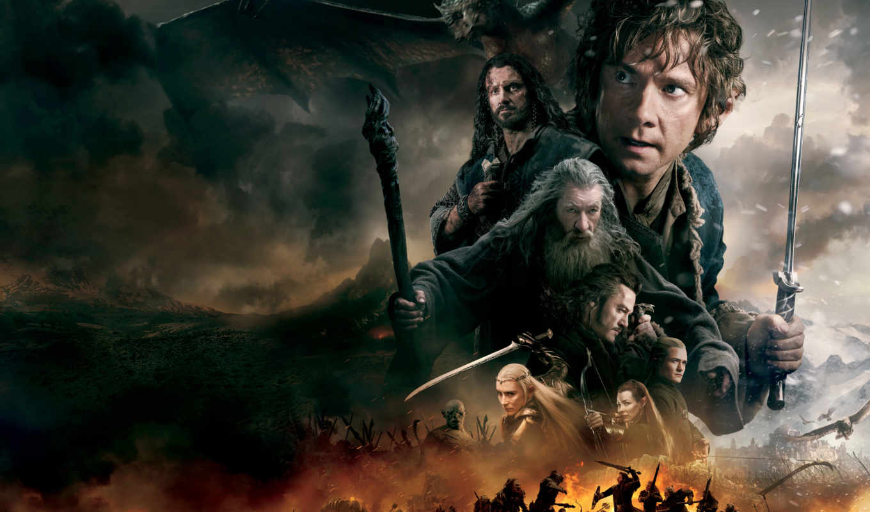hobbit, воинств, битва, пяти, кинотеатр, фильмы, armies, пять,