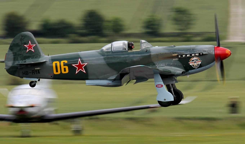 небо, самолёт, engine, одномоторный, истребитель, як, desktop, single,