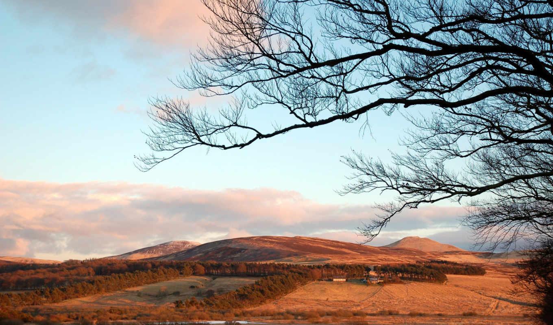 небо, природа, ветки, деревья, холмы, pantalla, fondos, fotos, ветви, exotico, paisaje, горы, pictures, macro, photoraphy, trees,