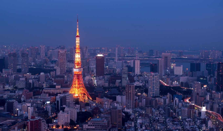 город, tokyo, télécharger, japan, nuit, gratuit, illuminée,