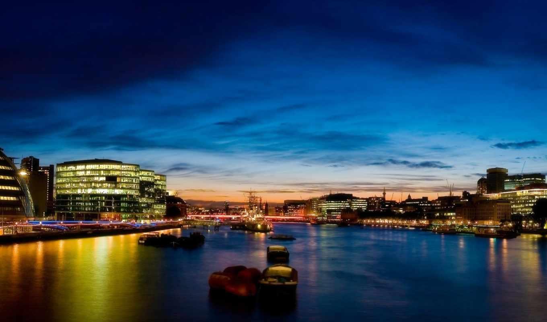 london, ночь, desktop, hdr, фон, огни,