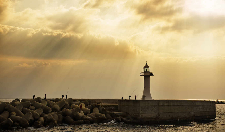 обои, wallpaper, desktop, lighthouse, hd, sepia, s