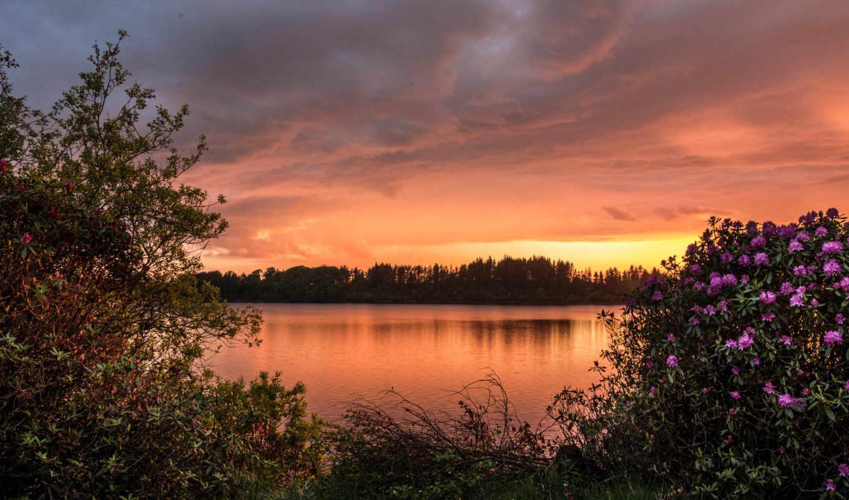 закат, озеро, desktop, you, фон, если, resolutions, первую,