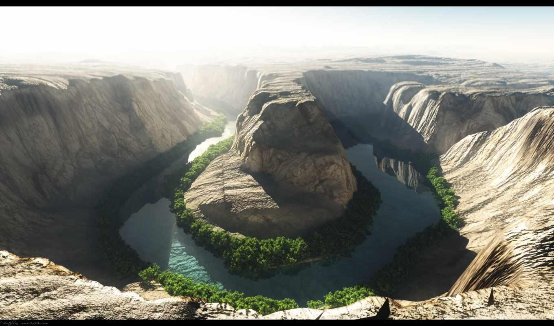 каньон, природа, красивый, colorado, горы, река, entertainment,