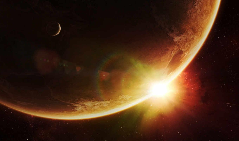 space, солнце, звезды, планеты, sunrise, смотрите, art, galaxy, planets,