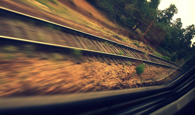 railroad, поезд, рельсы,