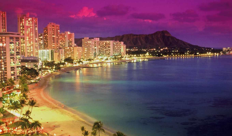 мира, городов, фотографий, города, кб, город, пляж, waikiki,