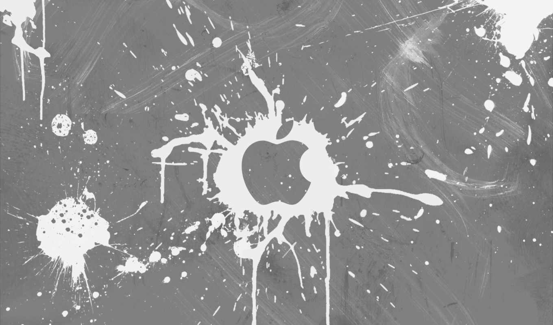 mac, apple, белый, серый