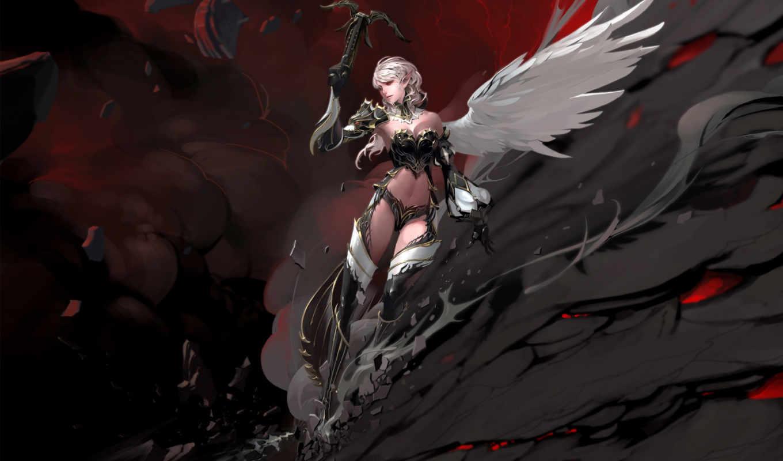 lineage, fantasy, game, girl, games, throne, крылья, скала, камаэль, girls, you,