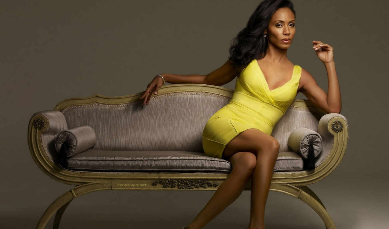 платье, желтый, диван, pinkett, jada, смотрите, sexy, джада, mixed, девушки, сестра, готорн,