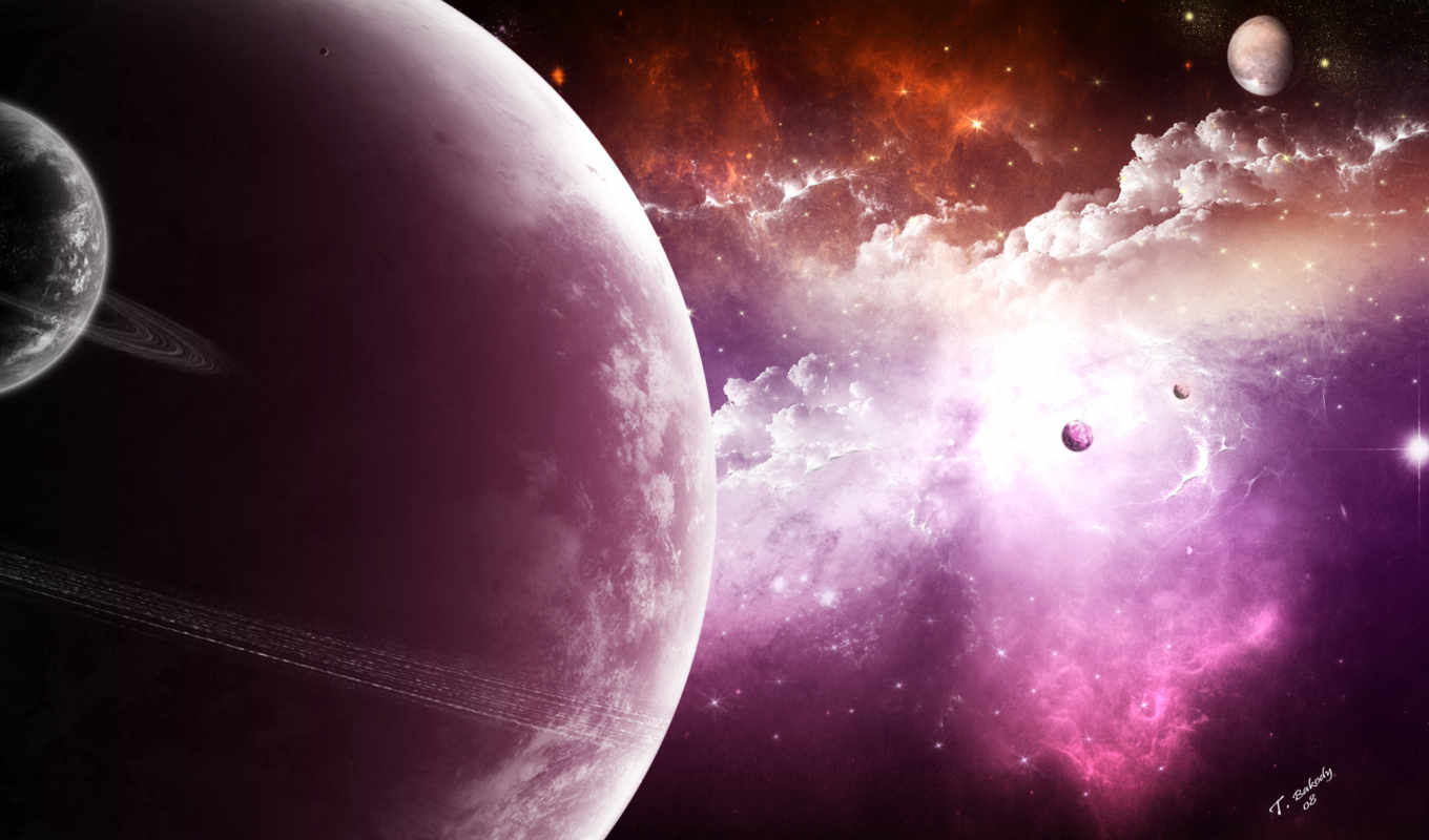 galaxy, planet, purple, desktop, download,