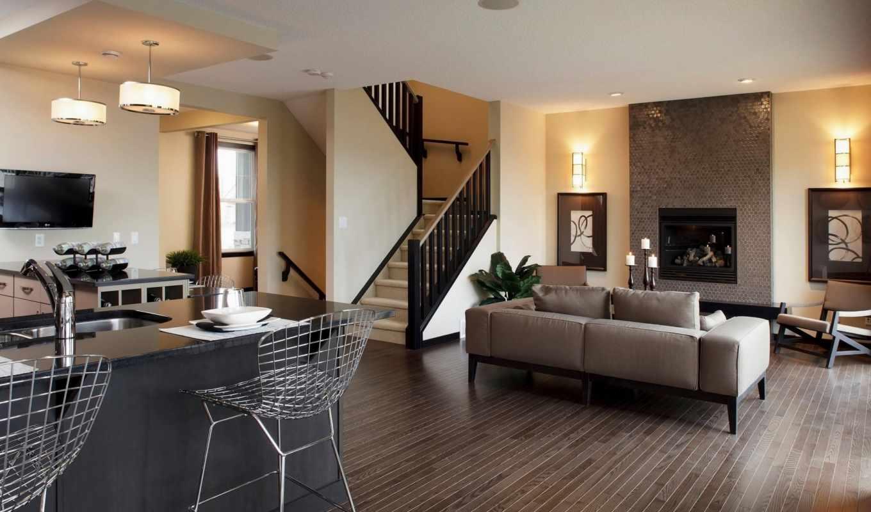 interer, dizain, гостиной, кухни, интерьера, кв,