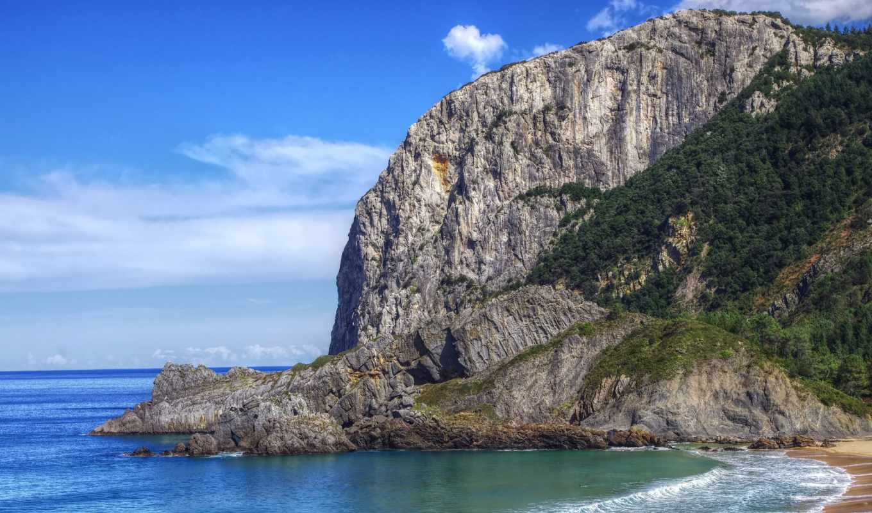 море, побережье, природа, картинка, испания, rock,