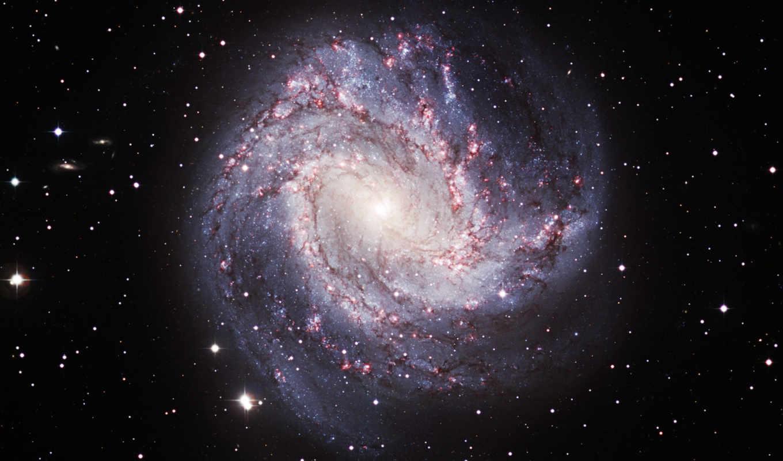 спиральная, galaxy, ngc, галактик, созвездие, двух,