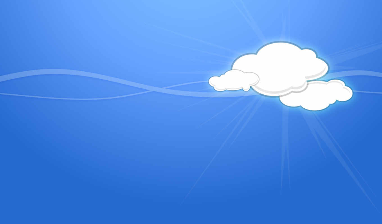 oblaka, вектор, минимализм, линии, небо, облако,