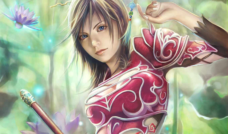 девушка, воин, fantasy, принцесса, princesa, guerrera, планшетный, mobile, fore, рисованный, guerreira