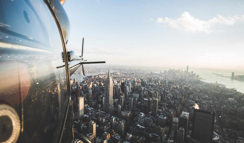 new, нью, york, сша, первую, usa, top, взгляд, город, вертолет