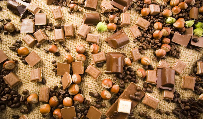 шоколад, орехи, зерна, лесные, кофейные, chocolate, картинка, wallpaper, hd, wallpapers,