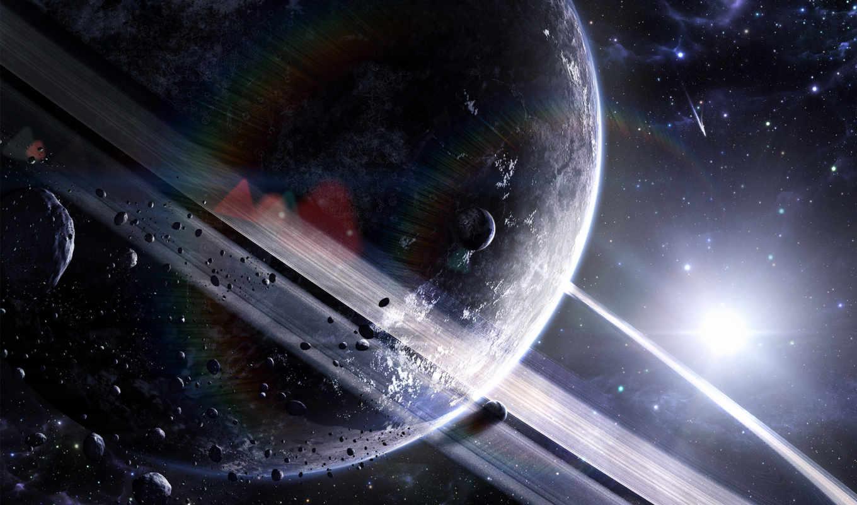 сатурн, астероиды, планеты, звезды, кольцо,