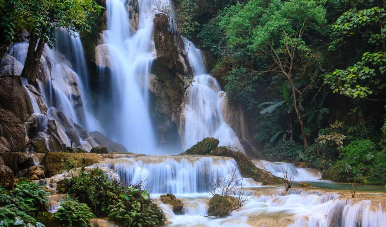 kuang, falls, водопад, waterfalls, картинка,