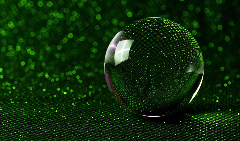зелёный, вектор, мяч, glitter, calculator, water, crystal, композиция