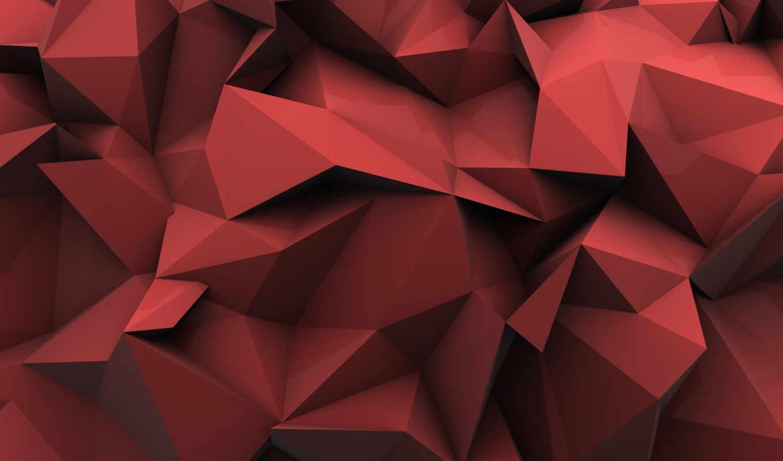 треугольники, формы, полигоны, абстракции, тени, обоях, абстракция, добавлено,